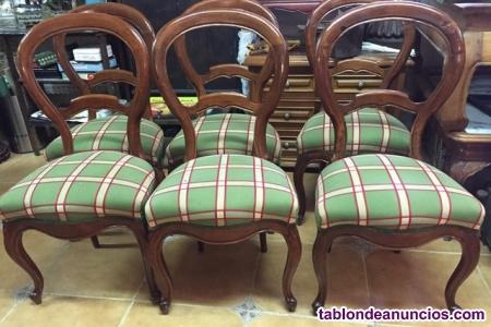 Lote de sillas de medallón