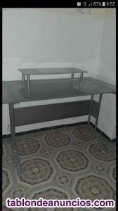 Mesa escritorio doble leja