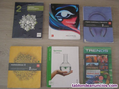 Vendo libros de Segundo de Bachillerato.