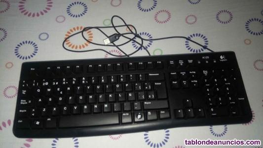 Monitor, teclado y ratón