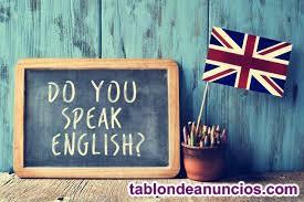 Ofreciendo clases de inglés y alemán.