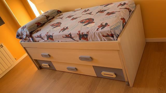 Vendo cama nido + compacta de madera