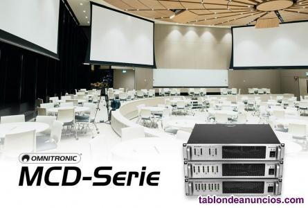 Potentes amplificadores multicanal de omnitronic, serie mcd
