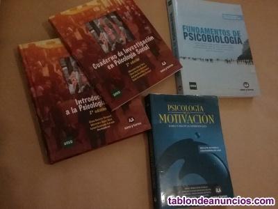 Vendo pack de libros 1er. Grado psicología (uned)