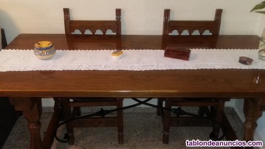 Venta mesa madera y sillas