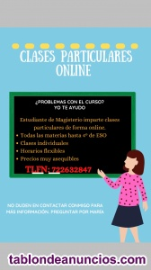 Clases particulares online Primaria y Secundaria