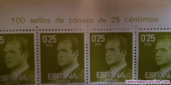 Láminas completas sellos Juan Carlos I
