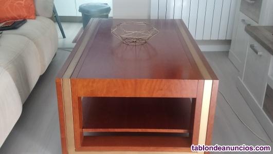 Mesa de centro de sofas en madero maciza