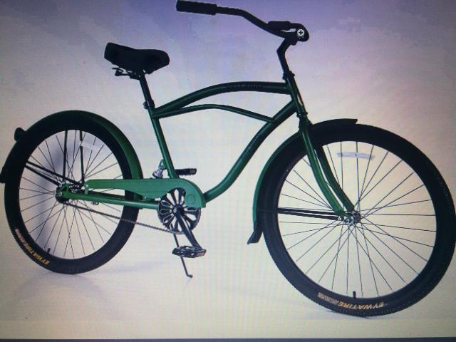 bicicleta con marco de acero