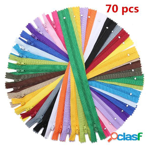 70 Unids 20 colores 30 cm (12 Pulgadas) Cremalleras de