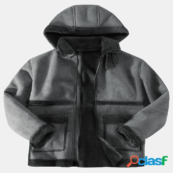 Abrigo con capucha de invierno de manga larga de manga larga