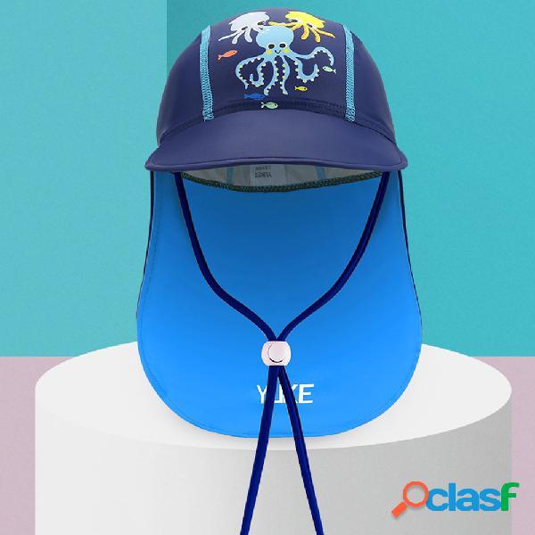 Anti-UV para niños Playa Sol Sombrero Orejeras