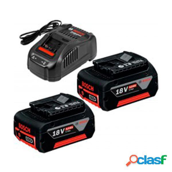 Bosch set 2 baterias 18v 5 ah +cargador gal 1880cv