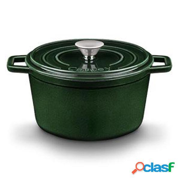 Cacerola castey alta hierro 22 cm verde oscuro
