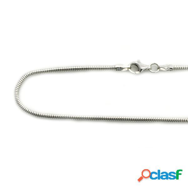 Cadena cola de topo de plata de ley 60 cm. 1,8 mm.