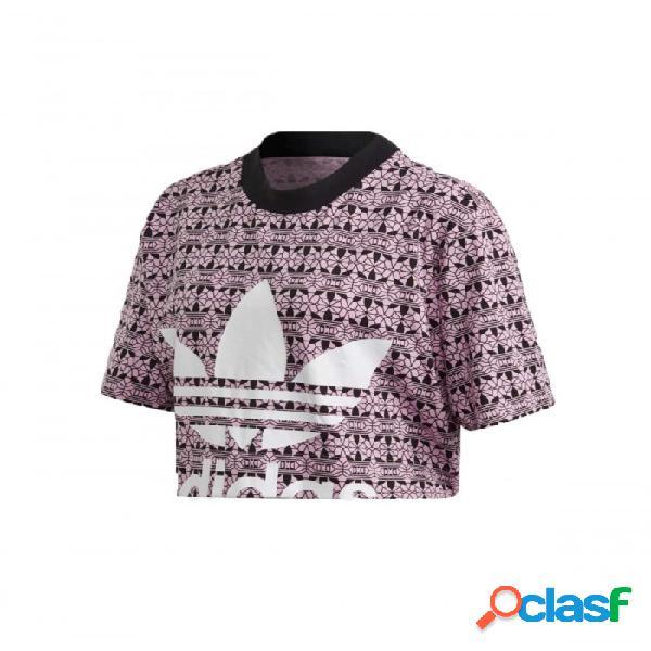Camiseta Adidas Aop Tee 36 Rosa