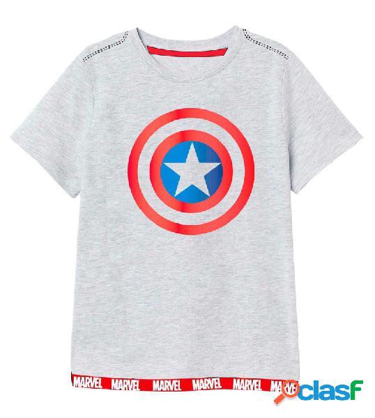 Camiseta infantil Capitan America Marvel