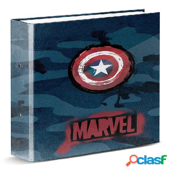 Carpeta anillas Capitan America Marvel