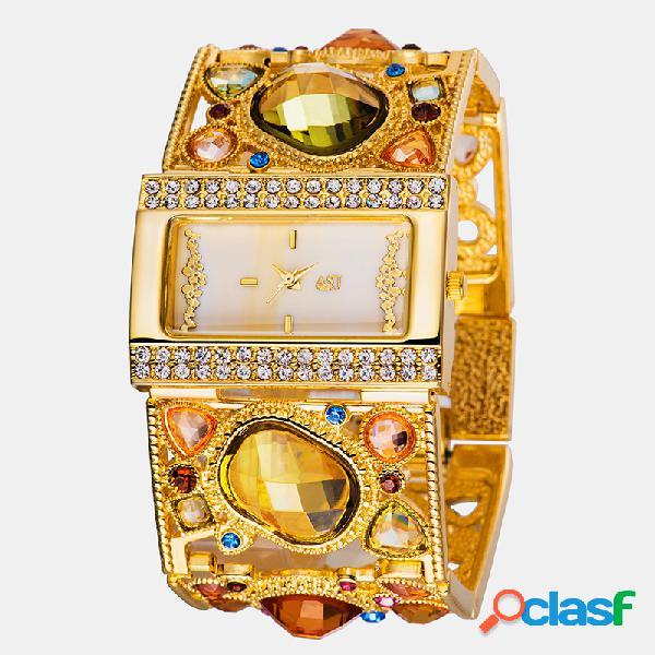 Casual Mujer Reloj de pulsera Correa hueca Resina natural