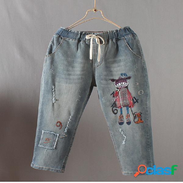 Cintura con cordón de niña de dibujos animados rasgada