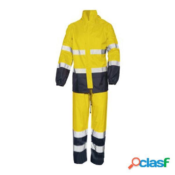 Conjunto chaqueta y pantalon impermeable alta visibilidad