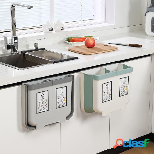 Contenedor de basura plegable de 13L Gabinete de cocina