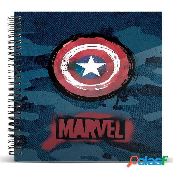 Cuaderno Capitan America Marvel A4