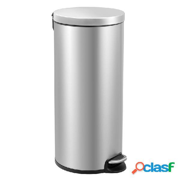 Cubo de basura metalico serene 30 l acero mate