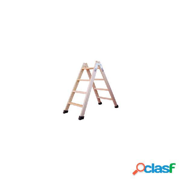 Escalera tijera madera fruc 4p pino con taco