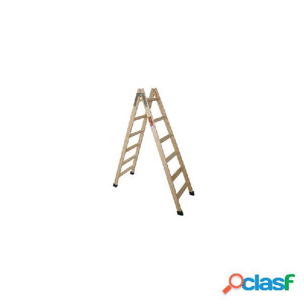 Escalera tijera madera fruc 9p pino con taco