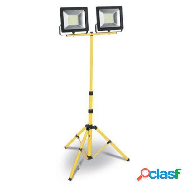 Foco proyector led plano matel 2 focos 50w 6400 k con