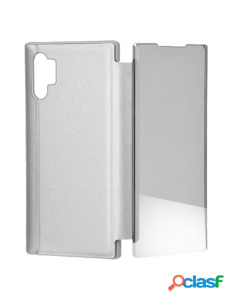 Funda libro Espejo Plata para Samsung Galaxy Note 10 Plus