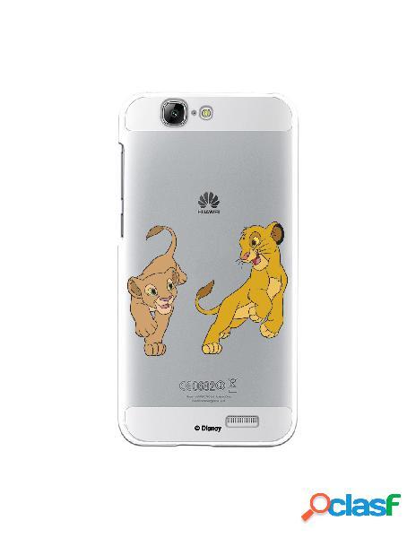 Funda para Huawei Ascend G7 Oficial de Disney Simba y Nala