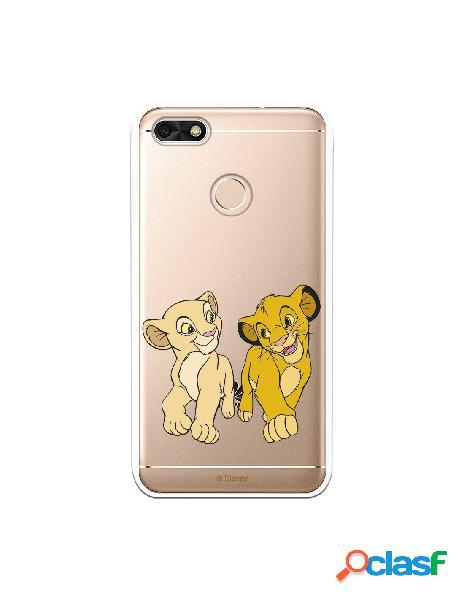 Funda para Huawei Y6 Pro 2017 Oficial de Disney Simba y Nala