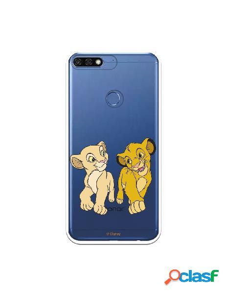 Funda para Huawei Y7 2018 Oficial de Disney Simba y Nala