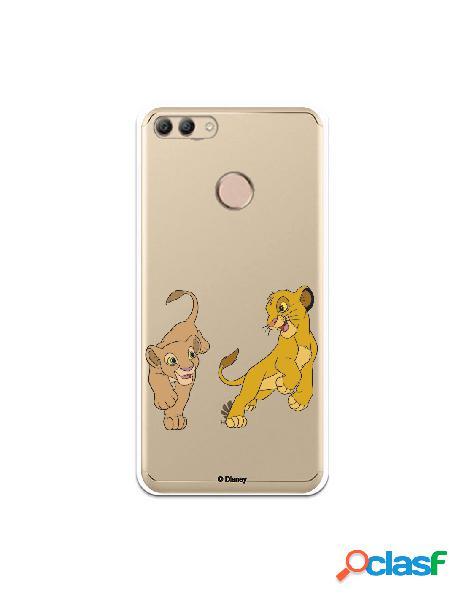 Funda para Huawei Y9 2018 Oficial de Disney Simba y Nala