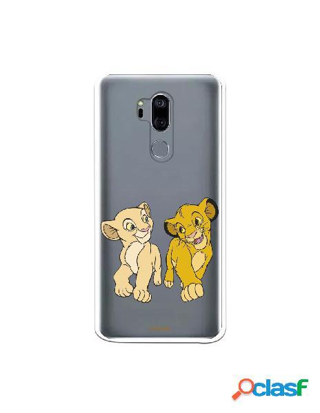 Funda para LG G7 Oficial de Disney Simba y Nala Mirada