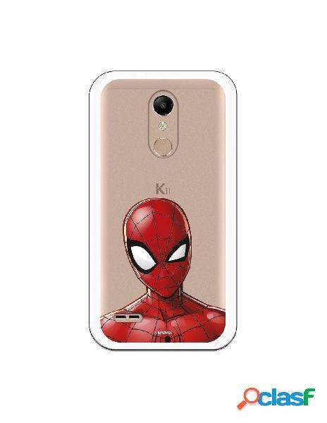 Funda para LG K10 2018 Oficial de Marvel Spiderman Silueta