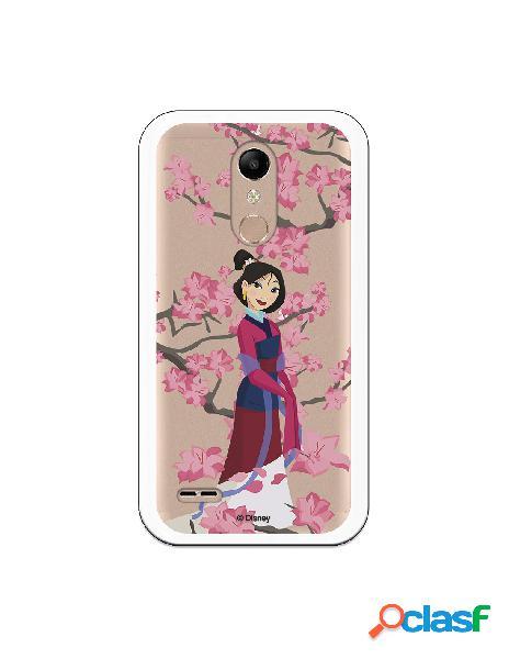 Funda para LG K11 Oficial de Disney Mulan Vestido Granate -