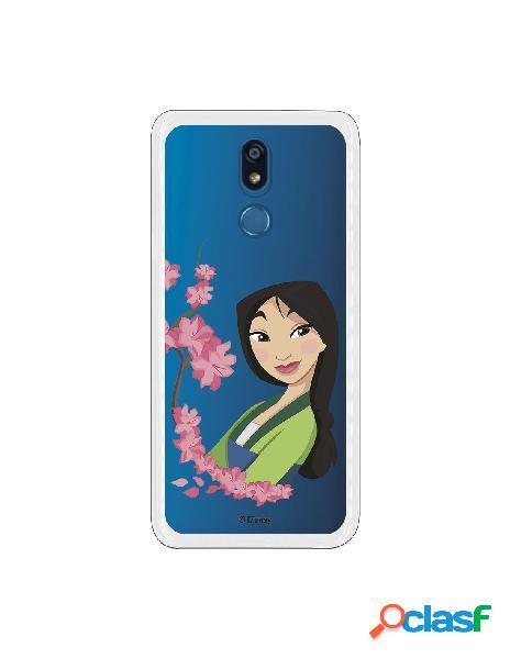 Funda para LG K40 Oficial de Disney Mulan Amapolas - Mulan