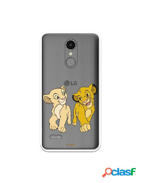 Funda para LG K9 2018 Oficial de Disney Simba y Nala Mirada