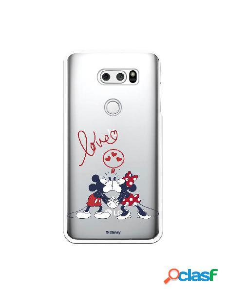Funda para LG V30S ThinQ Oficial de Disney Mickey y Minnie