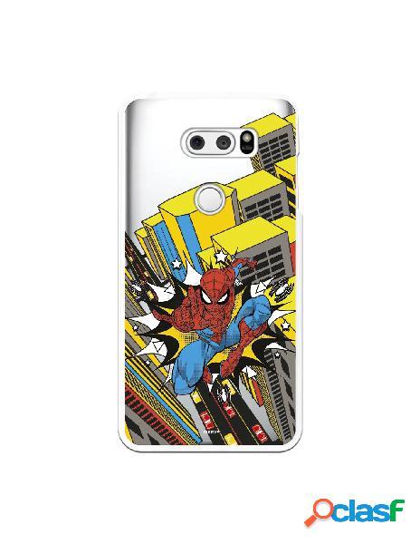 Funda para LG V30S ThinQ Oficial de Marvel Spiderman Ciudad