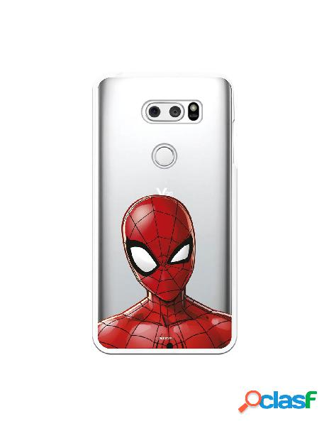 Funda para LG V30S ThinQ Oficial de Marvel Spiderman Silueta