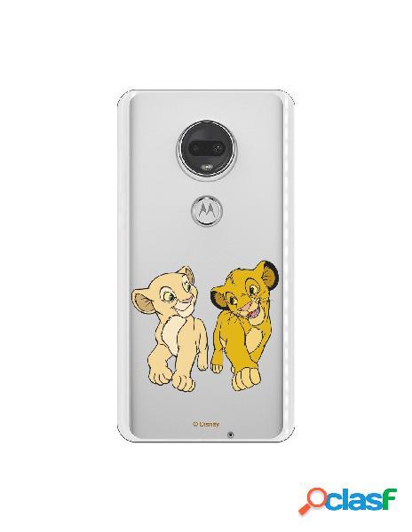 Funda para Motorola Moto G7 Oficial de Disney Simba y Nala