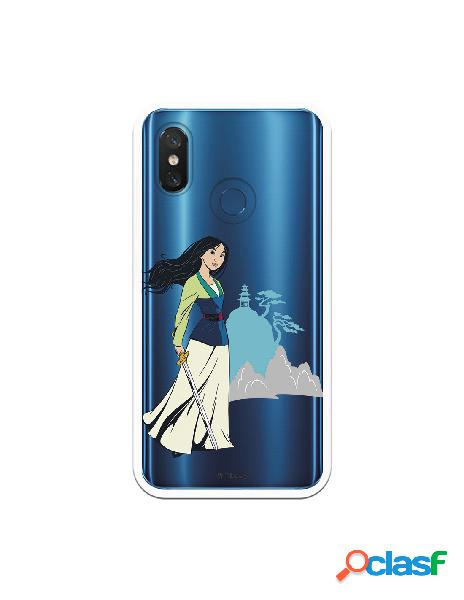 Funda para Xiaomi Mi 8 Pro Oficial de Disney Mulan Templo -
