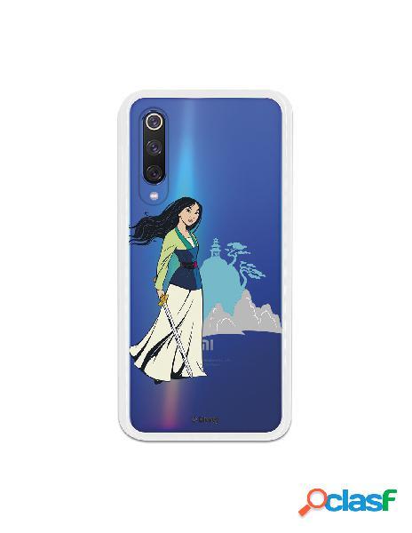 Funda para Xiaomi Mi 9 SE Oficial de Disney Mulan Templo -