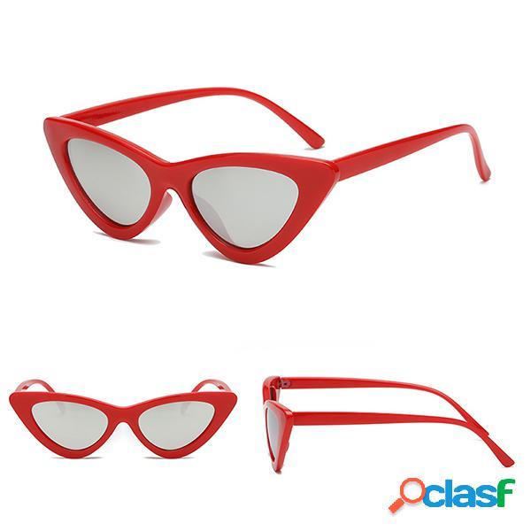 Gafas de sol retro de ojo de gato de las mujeres Gafas de