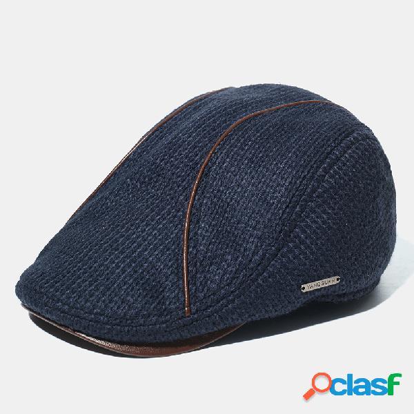 Gorras de boina cálidas acolchadas de punto Sombrero para