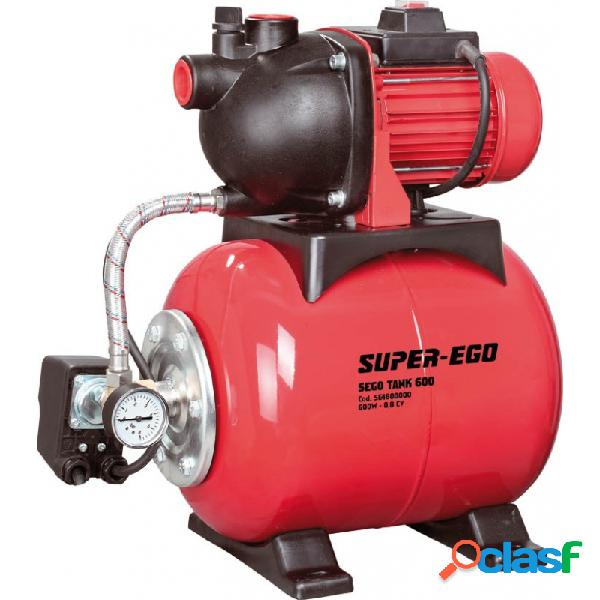 Grupo de presion de agua super ego segotank 600w 3000l/h